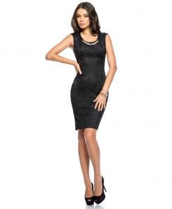 Rochie de ocazie dantela neagra 9309-4 - ROCHII DE SEARA SI OCAZIE - COCKTAIL