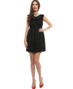 Rochie eleganta din dantela neagra 9358-1 - ROCHII DE SEARA SI OCAZIE - COCKTAIL