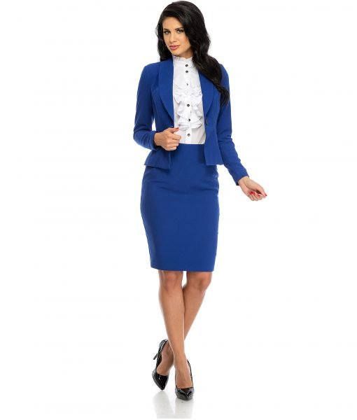 Sacou dama elegant albastru 678-2 – SACOURI – Sacouri