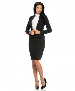 Sacou dama elegant negru 678-1 - SACOURI - Sacouri