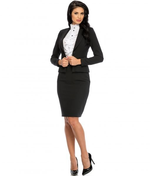 Sacou dama elegant negru 678-1 – SACOURI – Sacouri