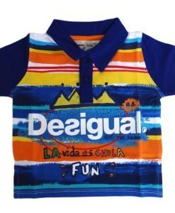 Tricou bumbac polo Desigual Chile 3-4 luni - Colectii - Desigual Kids