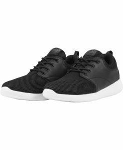 Adidasi Light Runner negru-alb Urban Classics - Incaltaminte urban - Urban Classics>Incaltaminte urban