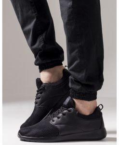 Adidasi Light Runner negru-negru Urban Classics - Incaltaminte urban - Urban Classics>Incaltaminte urban