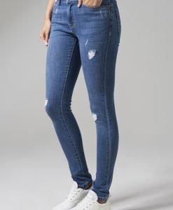 Blugi rupti denim pentru Femei albastru-washed Urban Classics - Pantaloni urban - Urban Classics>Femei>Pantaloni urban
