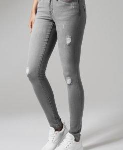Blugi rupti denim pentru Femei gri Urban Classics - Pantaloni urban - Urban Classics>Femei>Pantaloni urban