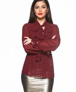 Bluza Daniella Cristea Feeling Special Burgundy - Bluze -