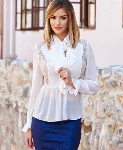 Bluza Daniella Cristea Sweet Life White - Bluze -