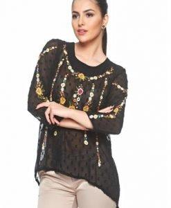Bluza Floral View Black - Bluze -