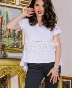 Bluza Ingrid Alba Din Bumbac - Haine - Bluze/Camasi