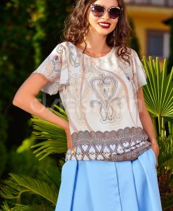 Bluza Ivoar cu Imprimeu Maro - Haine - Bluze/Camasi