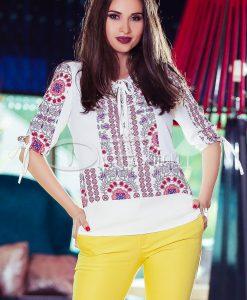 Bluza Please cu Imprimeu Rosu - Haine - Bluze/Camasi