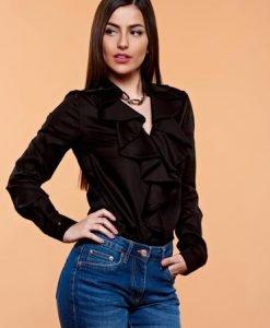 Bluza PrettyGirl Flame Design Black - Bluze -
