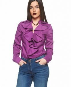 Bluza PrettyGirl Flame Design Purple - Bluze -