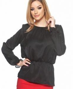 Bluza PrettyGirl Front Lace Black - Bluze -