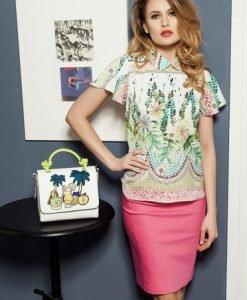 Bluza PrettyGirl Gorgeous Flower Green - Bluze -