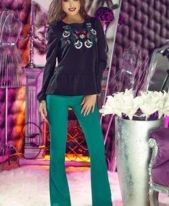 Bluza StarShinerS Brodata Theo Rose Delight Black - Bluze -