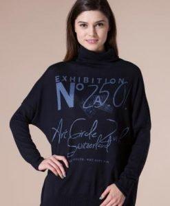 Bluza bleumarin din tricot 4429 - Pulovere -