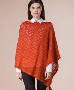 Bluza caramizie asimetrica D2203 - Cardigane -