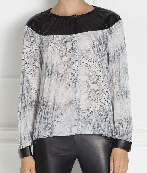 Bluza chic din voal plisa Imprimat – Imbracaminte – Imbracaminte / Topuri