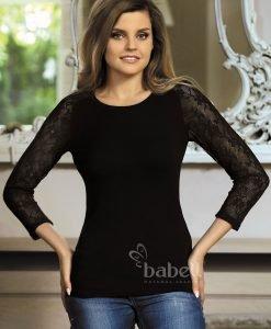 Bluza dama Freya maneci din dantela - Haine si accesorii - Tricouri maiouri tunici si pulovere