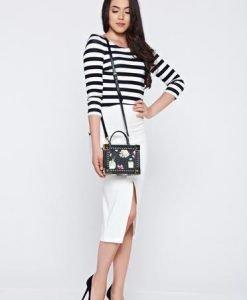 Bluza dama StarShinerS neagra cu dungi orizontale - Bluze -