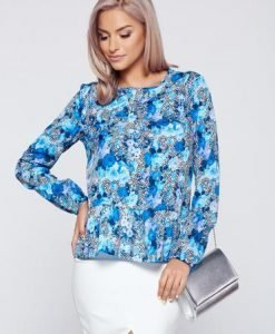 Bluza dama casual albastra StarShinerS - Bluze -