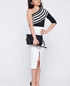 Bluza dama casual neagra StarShinerS asimetrica - Bluze -