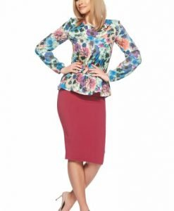 Bluza dama mov StarShinerS cu maneca lunga si imprimeuri florale - Bluze -