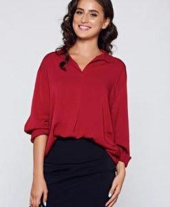 Bluza dama visinie eleganta din material vaporos cu croi larg - Bluze -