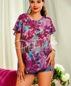 Bluza de Vara cu Imprimeu Mov - Haine - Bluze/Camasi