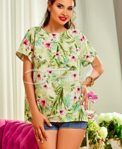Bluza de Vara cu Imprimeu Vernil - Haine - Bluze/Camasi