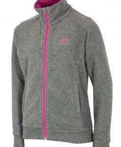 Bluza fleece Grey 4F pentru fetite - Haine si accesorii - Imbracaminte sport copii