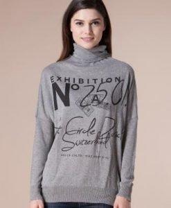 Bluza gri din tricot 4429 - Pulovere -