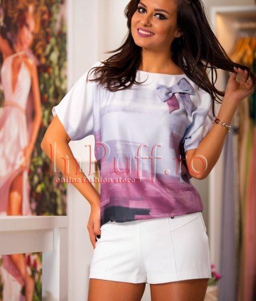 Bluza lejera de vara cu imprimeu si funda – BLUZE –