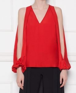Bluza lejera din vascoza Rosu - Imbracaminte - Imbracaminte / Topuri