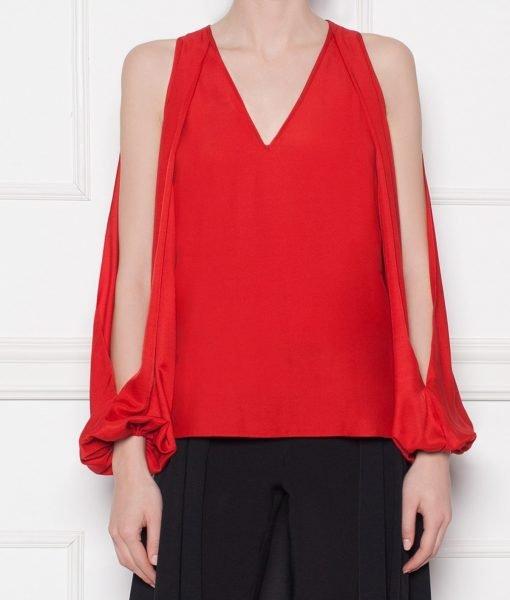 Bluza lejera din vascoza Rosu – Imbracaminte – Imbracaminte / Topuri