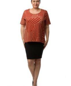 Bluza lejera portocalie CSF-043 - Marimi mari -