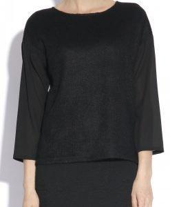 Bluza lejera realizata din voal Negru - Imbracaminte - Imbracaminte / Topuri