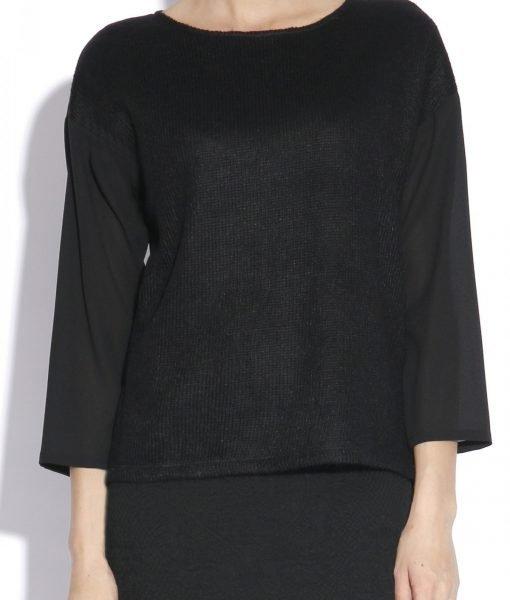 Bluza lejera realizata din voal Negru – Imbracaminte – Imbracaminte / Topuri