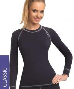 Bluza termica de dama Classic - gri - Lenjerie pentru femei - Lenjerie functionala