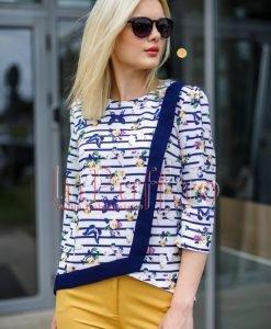 Bluza tripluvoal cu imprimeu digital - BLUZE -