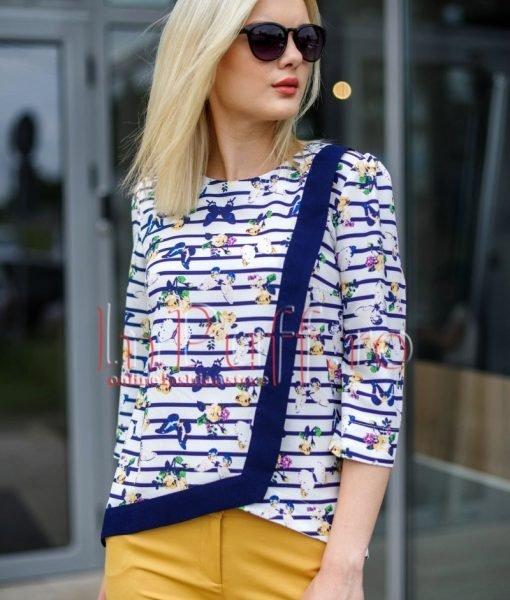 Bluza tripluvoal cu imprimeu digital – BLUZE –