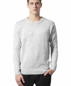 Bluze barbati elegante gri-alb Urban Classics - Bluze cu guler rotund - Urban Classics>Barbati>Bluze cu guler rotund