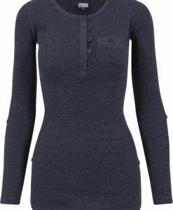 Bluze casual cu nasturi si cu buzunar la piept pentru Femei indigo Urban Classics - Pulovere si cardigane - Urban Classics>Femei>Pulovere si cardigane