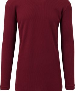 Bluze cu maneca lunga waffle rosu burgundy Urban Classics - Bluze cu maneca lunga - Urban Classics>Barbati>Bluze cu maneca lunga