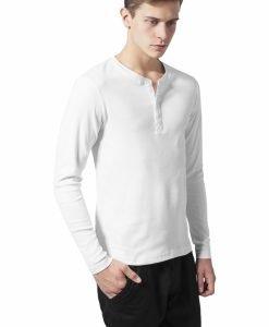 Bluze slim barbati white Urban Classics - Bluze cu maneca lunga - Urban Classics>Barbati>Bluze cu maneca lunga