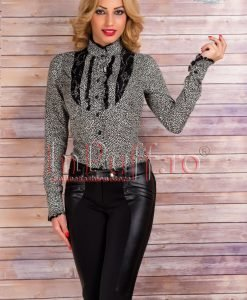 Body dama bumbac animal print - CAMASI -