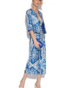 Bolero elegant cu print geometric albastru IMPRIMAT - Imbracaminte - Imbracaminte / Jachete si cardigane / Jachete