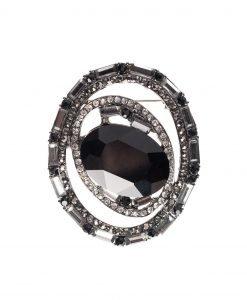 Brosa cu piatra neagra din sticla Negru - Accesorii - Accesorii / Brose